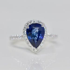 """Jenna Blue"" 3.17 carat Sapphire Engagement Ring"
